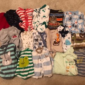 17 sets 3-6 month PJ's